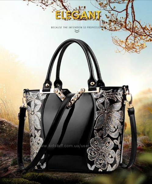 80ed70fd32d2 Женские офисные сумки с вышивкой 4 цвета, 1000 грн. Женские сумки -  Kidstaff | №27513883