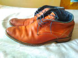 Шкіряні фірмові туфлі-черевики 42р
