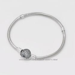 Серебряный браслет Pandora Pave Пандора  люкс копия