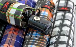 Зонт мужской полуавтомат Клетка SL 10 спиц карбон Антиветер