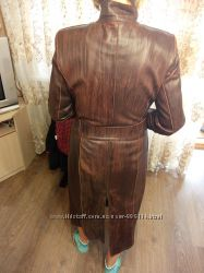 Плащ кожаный 48- размер