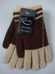 Утепленные перчатки с начесом р. 4-6 лет