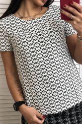 Шикарная блузки incity белая ромбик рр 46 и 50