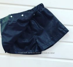 Юбка - шорты, кожаная юбка