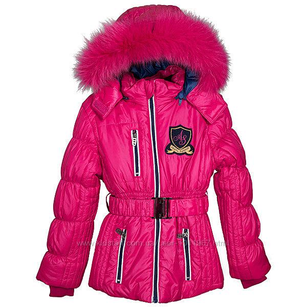 РАСПРОДАЖА  ARISTA Удлиненная куртка на холодную зиму, песец р.122 - 152