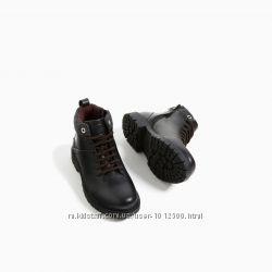 Новые кожа ботинки зара zara 27-28 р 18 см осень весна деми шкіра