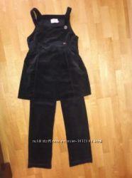 Вельветовый комплект для беременной Vilagio туника сарафан и брюки штаны