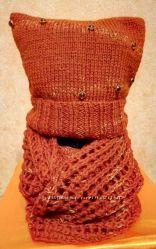 Набор - шапочка и снуд из кашемира