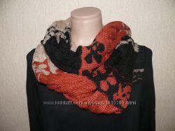 Красивый теплый шарф 100 махер, новый