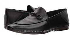 Лоферы мокасины кожаные GUESS Mens Edwin Black Leather