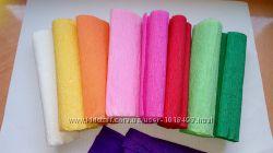 Креповая цветная бумага
