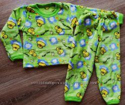 Детская тёплая пижама из рваной махры