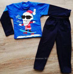 детская пижама на байке Санта Клаус