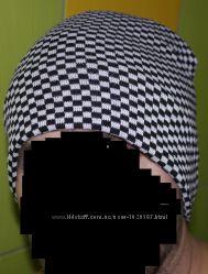 мужская шапка бини двойная плотная ровная вязка