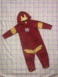Кигуруми пижама слип флисовый Железный человек на 3 года, 98 см
