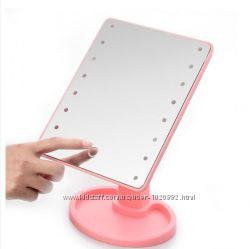 Красивое зеркало косметическое с подсветкой для макияжа Large Led Mirror