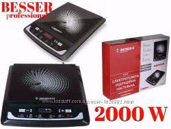 Плита индукционная керамическая Besser 10212 настольная 2000Вт