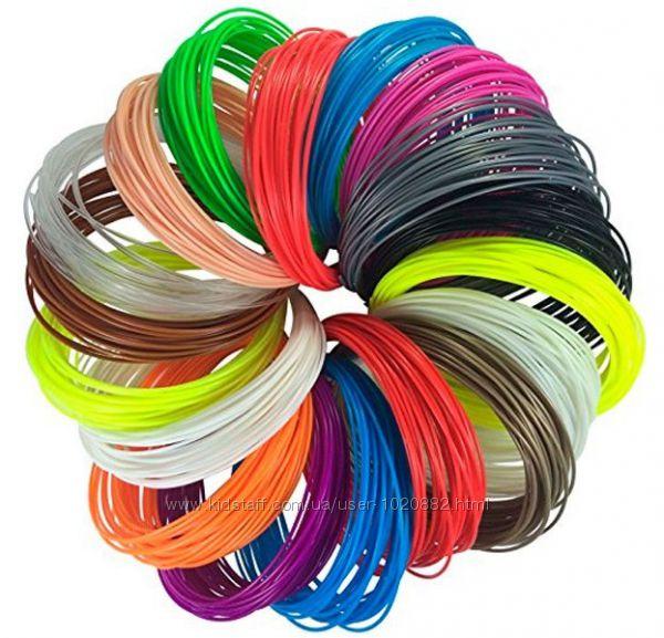 Набор пластика, нити  из 10 цветов, 100 м, заряд для 3D ручки