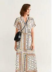 Платье-рубашка с принтом MANGO