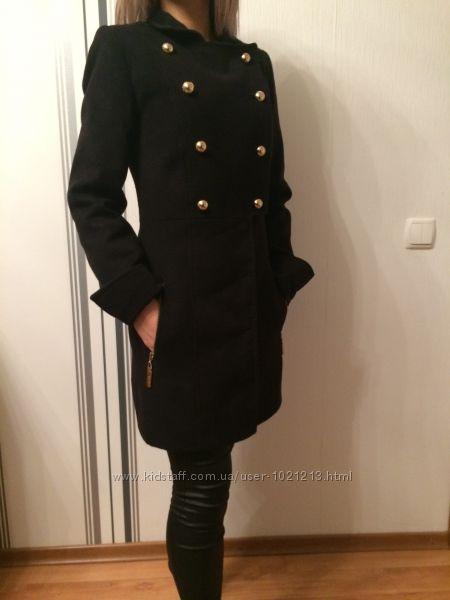 Кашемировое двубортное пальто