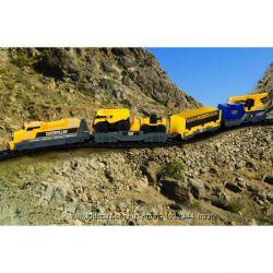 Железная дорога Дизельный тепловоз CAT Toy State Caterpillar Iron Dies