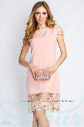 Платье ажурная отделка Gepur
