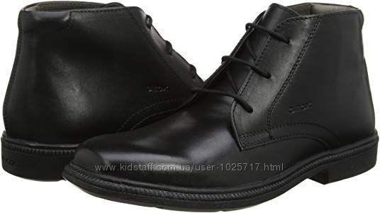 Новые Geox кожаные высокие туфли
