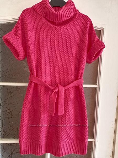 Стильное вязаное платье George 7-9 лет.