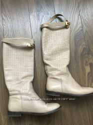 Сапоги деми, чоботи кожа, шкіряні чоботи, сапожки 38 розмір башато взуття