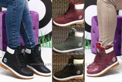 9d35d1d2e8a6 Женские ботинки тимберленды зимние хаки черные бордовые марсала под Timber