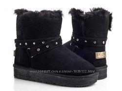 4d4e91692f9b Натуральные замшевые угги UGG черные уги сапоги замш натуралки ботинки