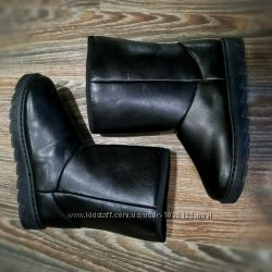 41р 42р 43р 44р 45р Мужские черные эко кожаные угги сапоги, дутики, ботинк