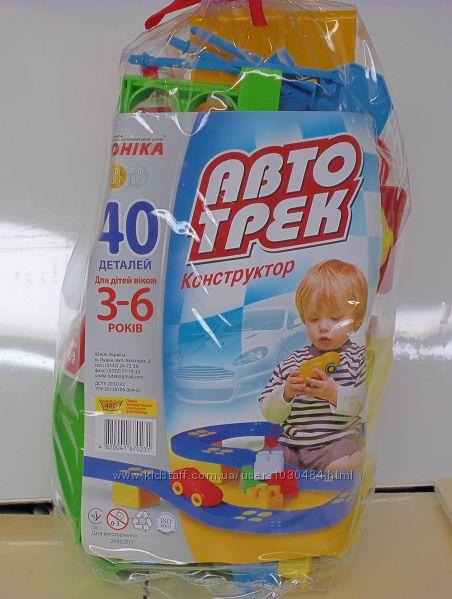 Конструктор Автотрек  Юника 40 дет.