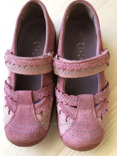 Удобные туфли из натурального замша и кожи Elefanten р. 28 , Стелька 18 см