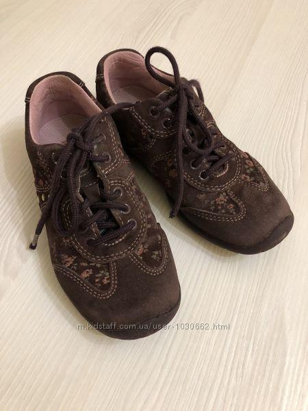 Закрытые туфли из натуральной замшевой кожи Элефантен р. 28 ст. 18 см