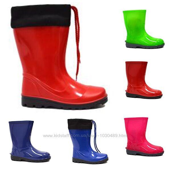 Чобітки сапоги чоботи для дівчаток хлопчиків девочек мальчиков р.23-34