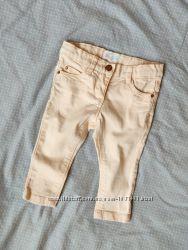 Пудровые джинсы, штаны, светлые, бежевые