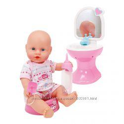 Распродажа - пупс nbb 30 см ванная комната от simba кукольный набор пьет пи