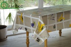 Красивая силиконовая клеенка на стол с цветочным принтом код 223-А