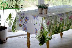 Силиконовая клеенка на  стол цветочные мотивы код 292, код 294, код 296