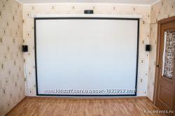Проектор, полотно, материал для создания экрана проектора