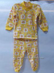 Детская пижама Слоник для мальчика и девочки, желтая, 2834