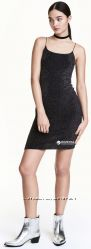 Платье с блеском H&M, XS