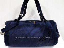 Дорожная сумка-рюкзак брезентовая синяя