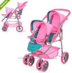 Детская коляска для кукол-близнецов, двойняшек MELOGO 9662 D