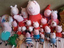 Мягкая игрушка Свинка Пеппа, Джордж с Динозавром,  Денни, Ребекка