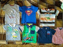 Брендовые футболки и поло размер 86