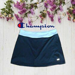 Champion оригинал Спортивная женская юбка с шортиками черно/серая М