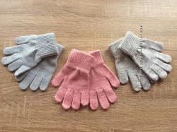 Перчатки  с люрексом от 2-4 года до и 4-8 лет h&m