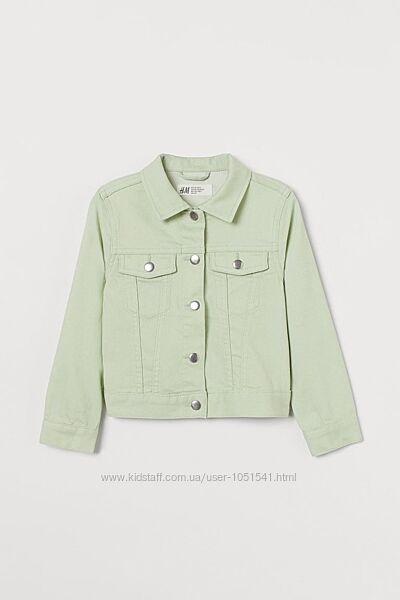 Куртка джинсовая на девочку от h&m рост от 128 до 140 см